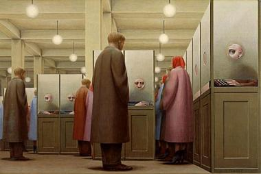 Government-Bureau-George-Tooker-1956